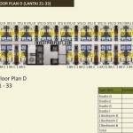 Floor Plan D Lantai 21-23