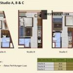 Tipe Studio A, B, C