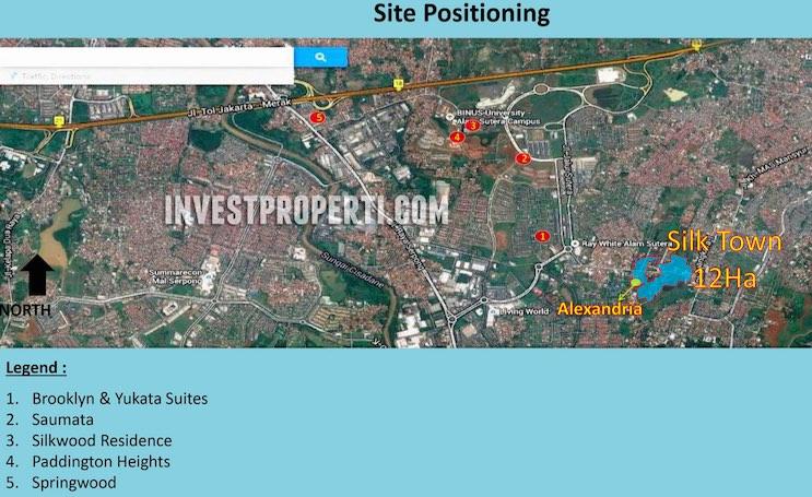 SilkTown Alam Sutera Site Positioning