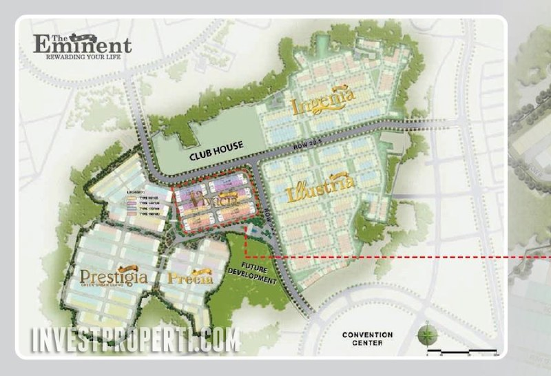 Master Plan Perumahan The Eminent BSD City