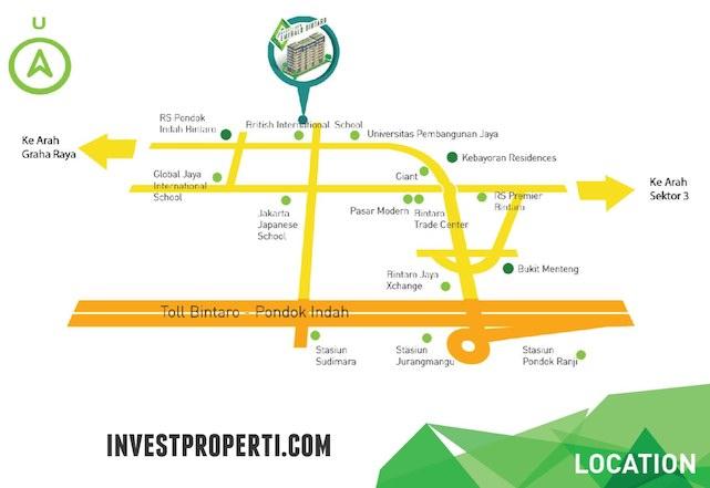 Peta Lokasi Apartemen Emerald Bintaro