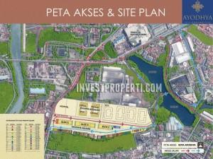 Peta Lokasi & Site Plan Kota Ayodha