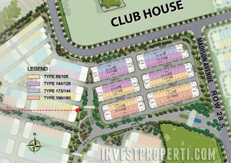 Site Plan Cluster New Vivacia The Eminent