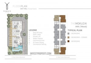 Apartemen Yukata Suites Floor Plan