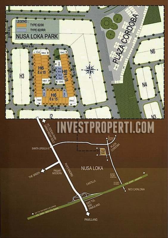 Peta Lokasi Perumahan Nusa Loka Park BSD