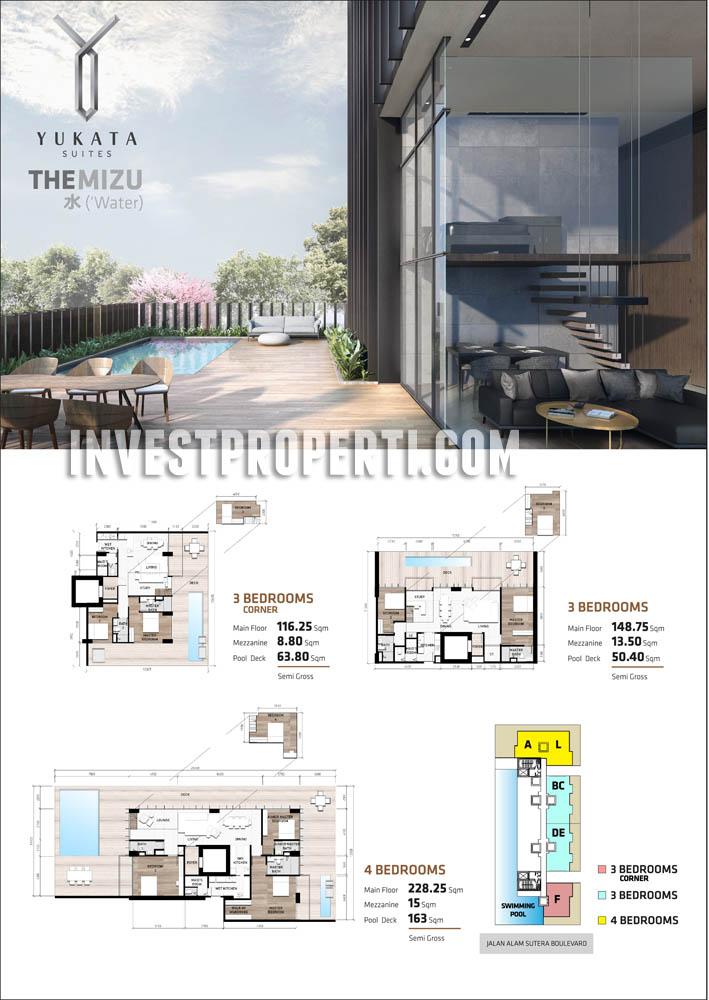 Yukata Alam Sutera - The Mizu 3BR Corner