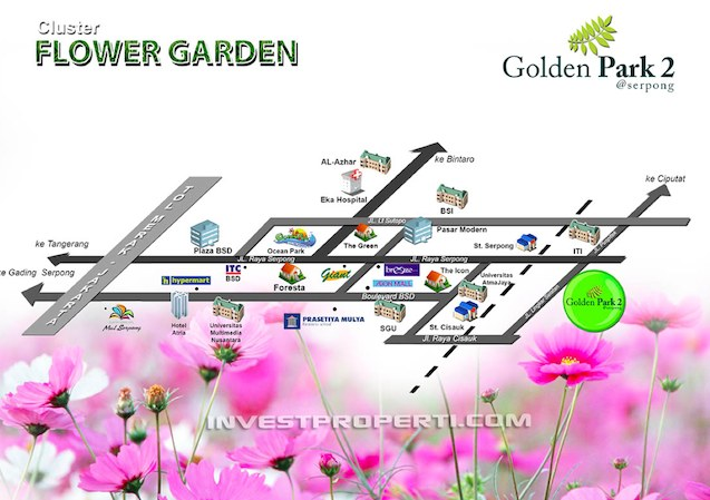 Golden Park2 Serpong Map Location