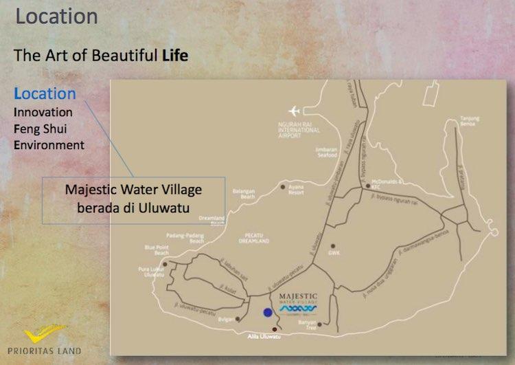 Majestic Water Village Uluwatu Bali Map Location