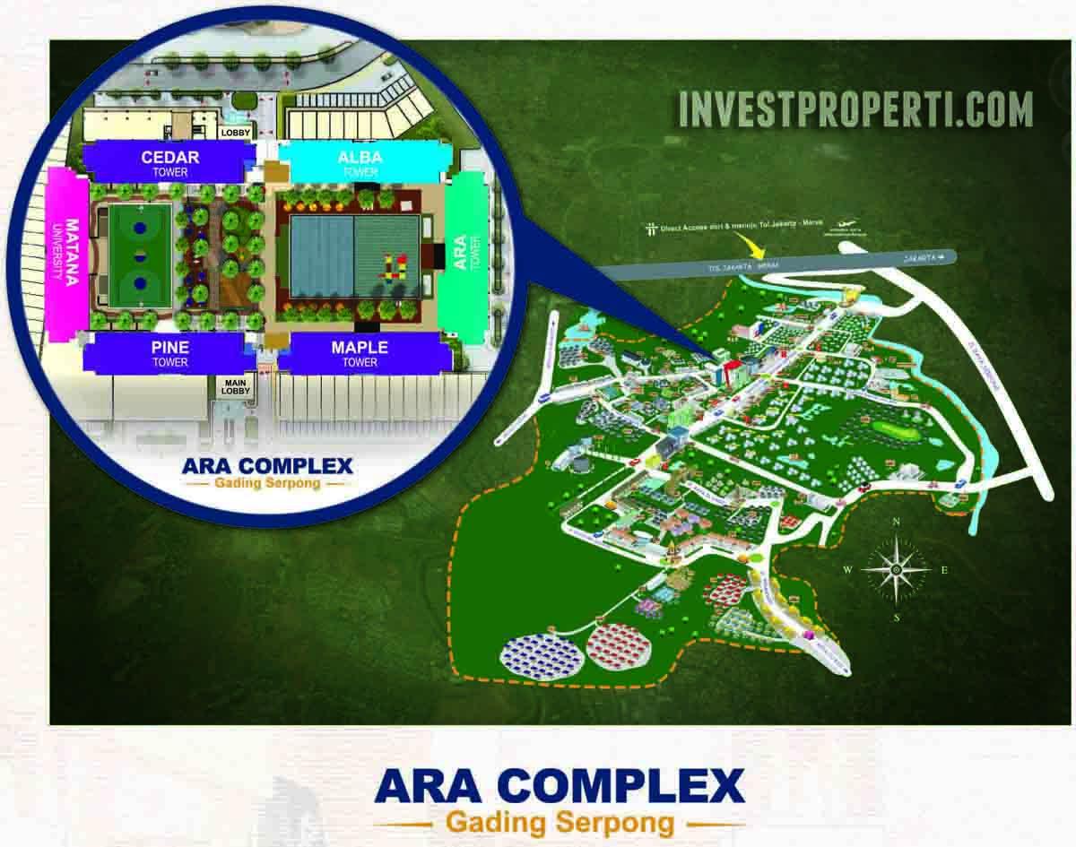 Ara Complex Gading Serpong Map Location