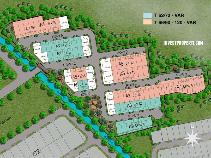 Siteplan Perumahan Sevilla Park BSD City
