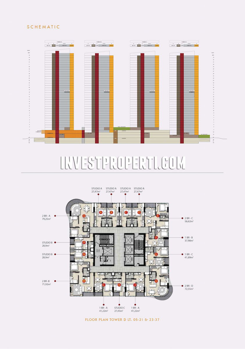 Floor Plan The Noble Alam Sutera