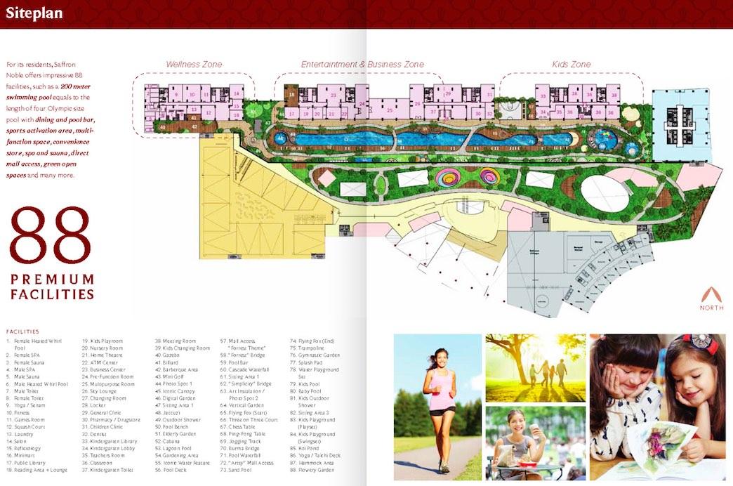 Saffron Noble Sentul City Facilities