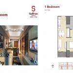 Saffron Sentul City Apartemen 1BR Type