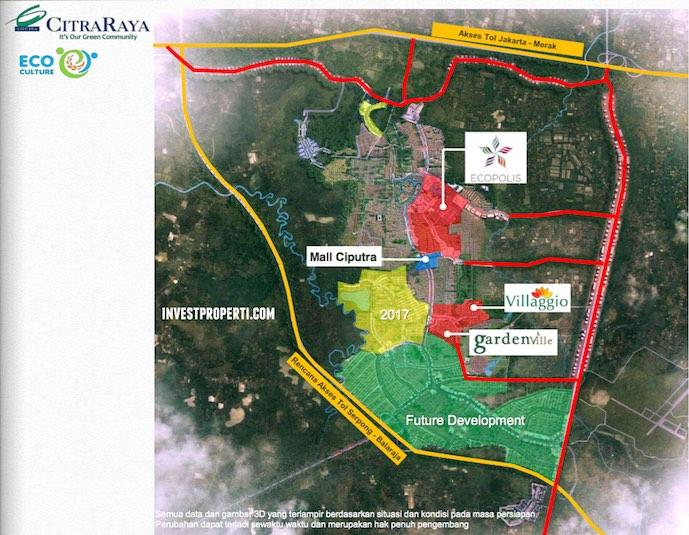 Villagio - Peta Lokasi Perumahan Baru CitraRaya