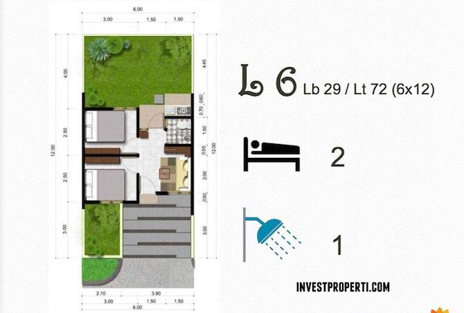 Denah Tipe Rumah L6