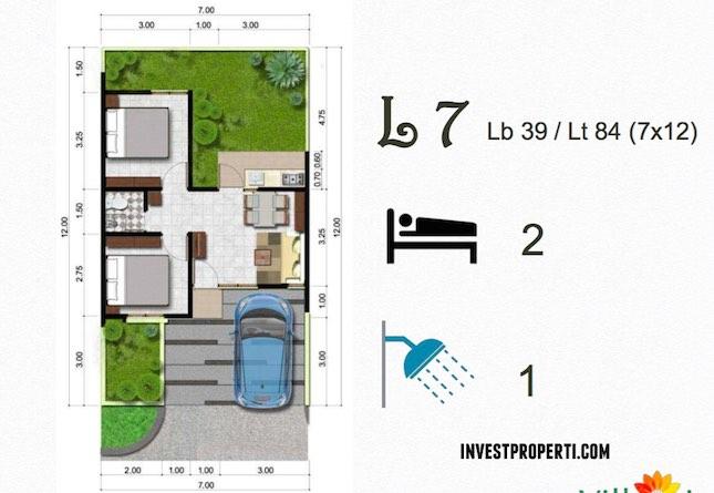 Denah Tipe Rumah L7