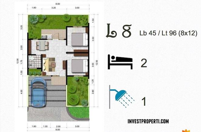 Denah Tipe Rumah L8