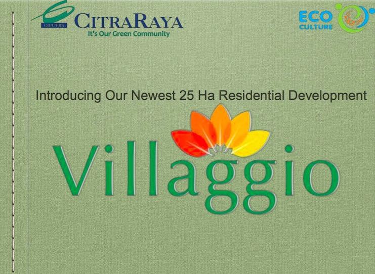 Brosur Villaggio CitraRaya Tangerang