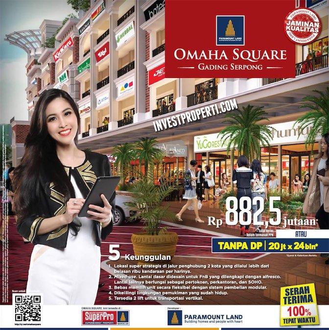 Brosur Omaha Square Ruko Paramount Serpong