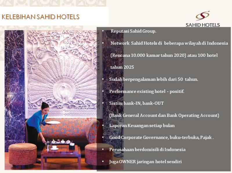Kelebihan Invest di Sahid Hotel