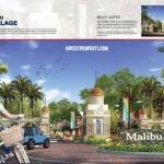 Gerbang Perumahan Malibu Village Serpong