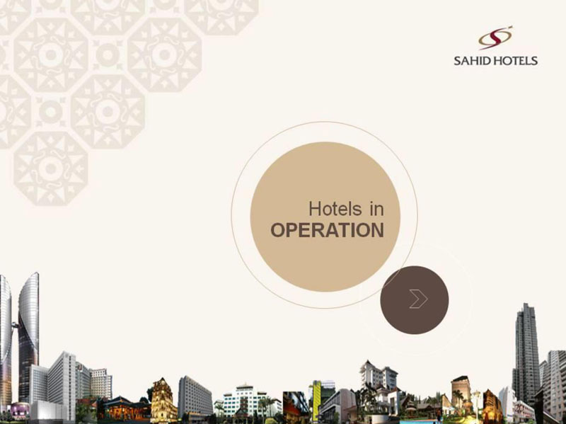 Sahid Hotels in Operation