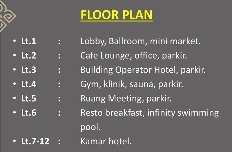 Sahid Maison Hotel Serpong Floor Plan