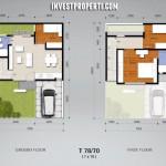 Denah Tipe78 Rumah Cluster Amarine BSD