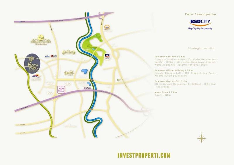 Peta Lokasi Vanya Park BSD