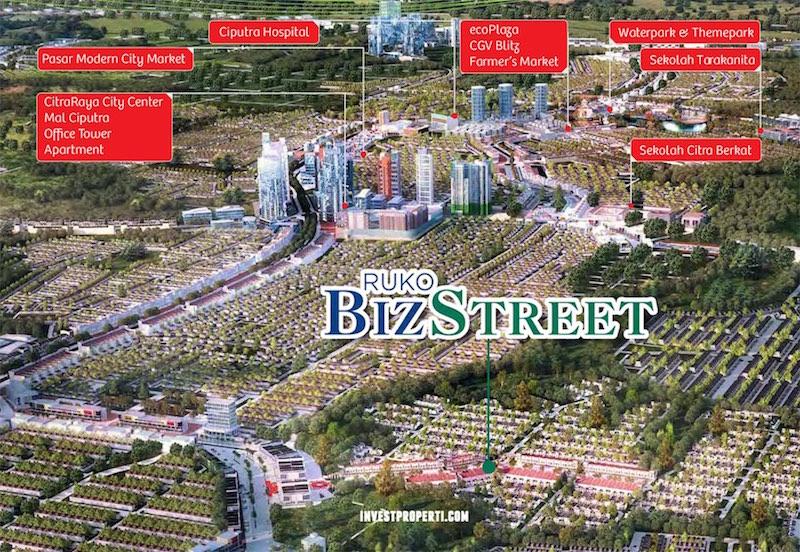 Lokasi Ruko BizStreet CitraRaya