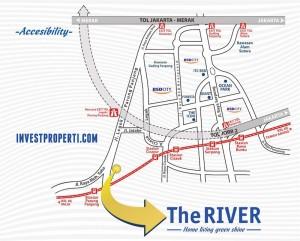 Peta Lokasi The RIVER Parung Panjang