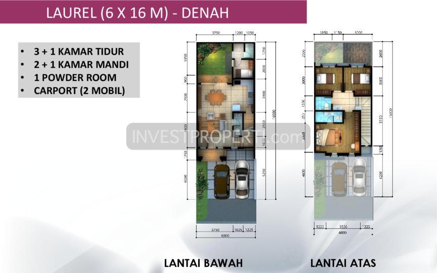 Denah Leora Tipe 6x16