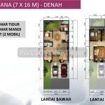 Denah Leora Tipe 7x16