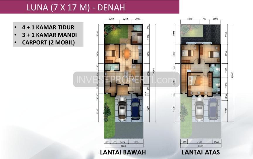 Denah Leora Tipe 7x17