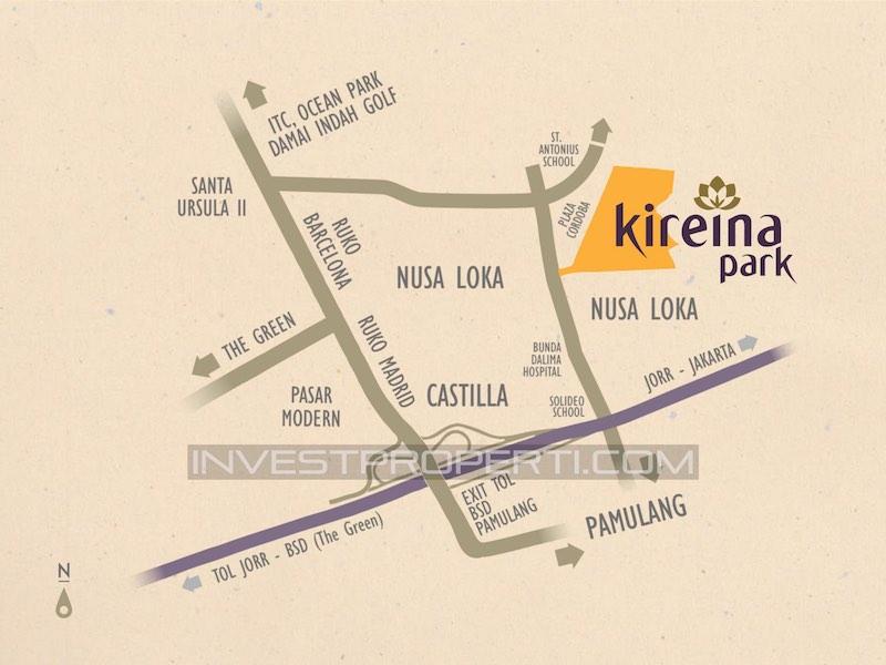Lokasi Cluster Kireina Park