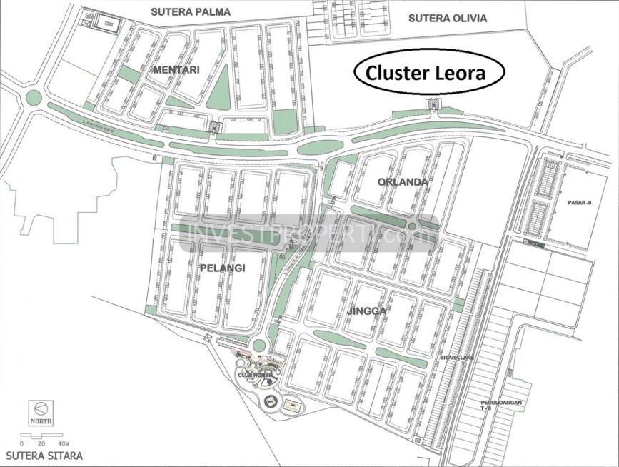 Lokasi Cluster Leora Sitara Alam Sutera