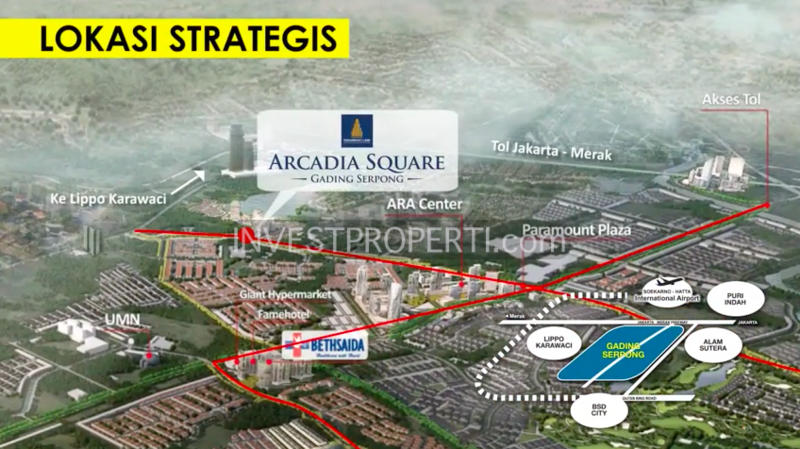 Peta Lokasi Arcadia Square Gading Serpong