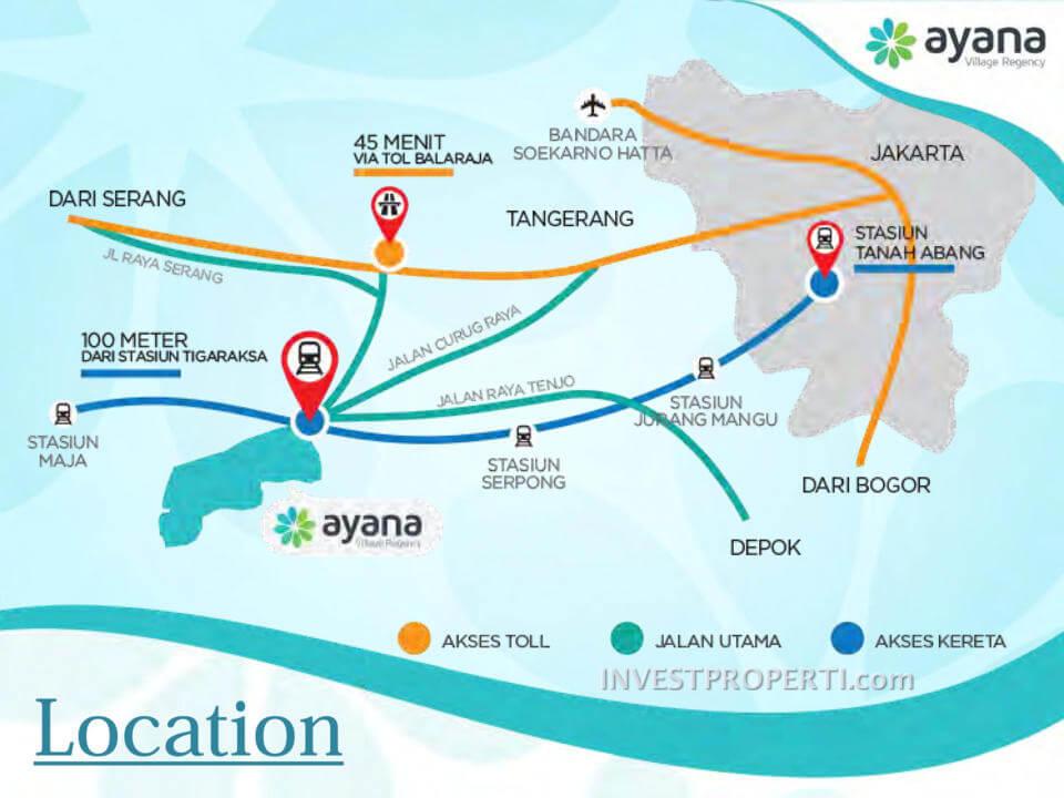 Peta Lokasi Ayana Village Regency Tigaraksa