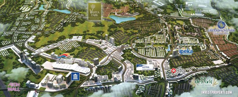 Lokasi Vanya Park BSD