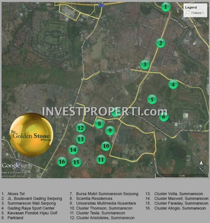 Peta Lokasi The Golden Stone Serpong