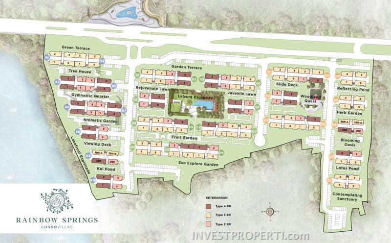 Site Plan Rainbow Spring Condo Villa Serpong