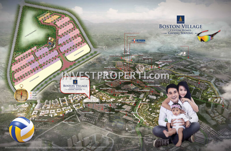 Boston Village Serpong Map Location