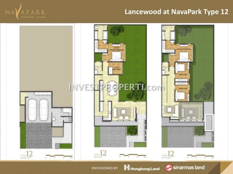 Denah Rumah Lancewood NavaPark Tipe 12
