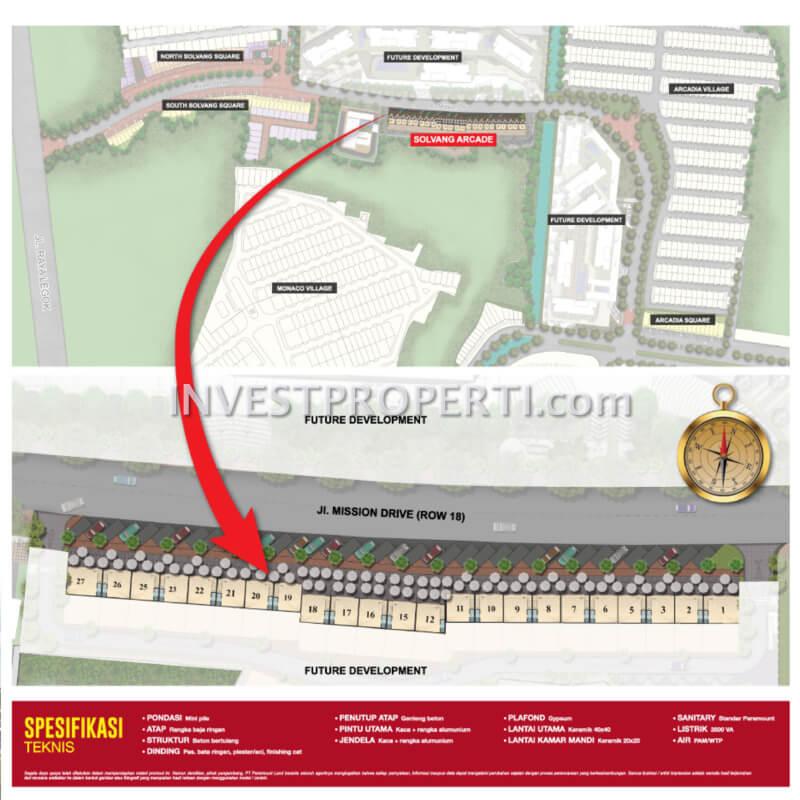 Lokasi / Site Plan Ruko Solvang Arcade