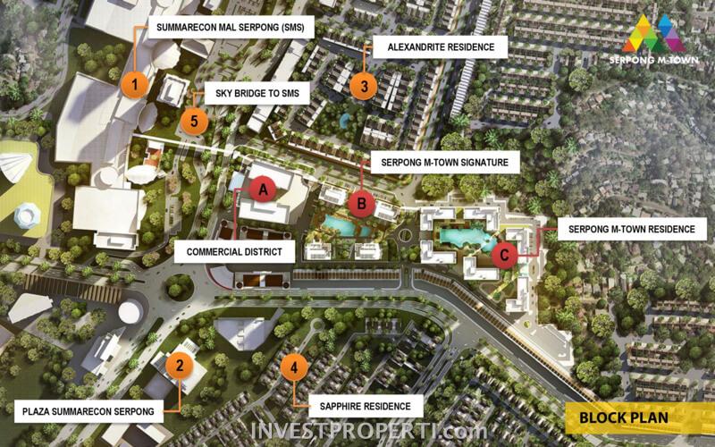 BlocK Plan Apartemen Serpong M-Town