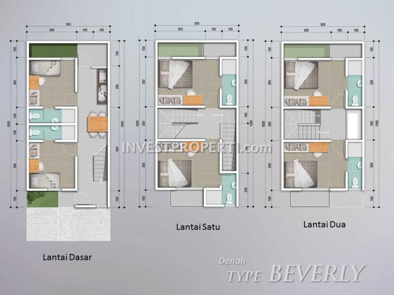 Denah Lantai Tipe Beverly The Piazza BSD