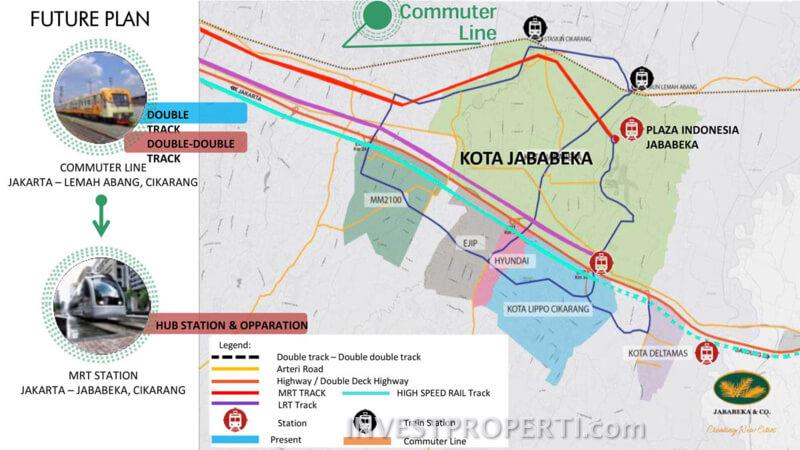 Peta Commuter Line Jababeka