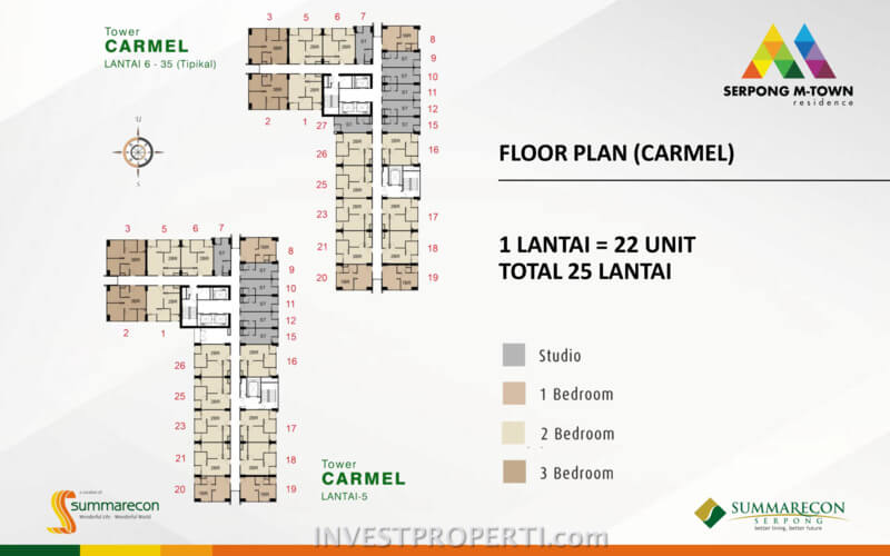 Floor Plan Tower Carmel