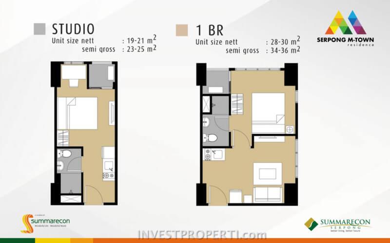Tipe Studio dan 1 BR