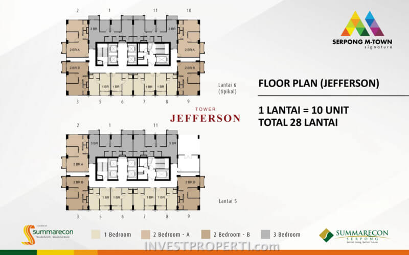 Floor Plan Tower Jefferson